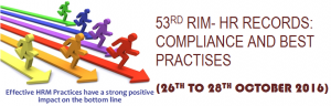 53rd RIM- Workshop on process auditing & Automation of PERSONNEL Records (26th to 28th Oct 2016)