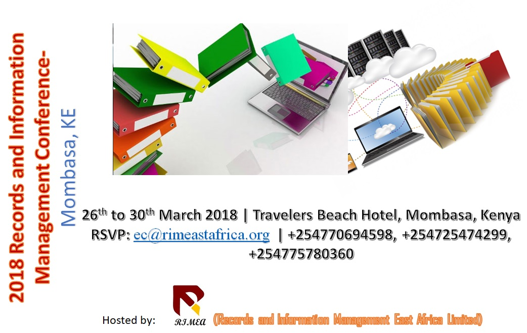 2018 RECORDS AND INFORMATION MANAGEMENT CONFERENCE- MOMBASA, KE