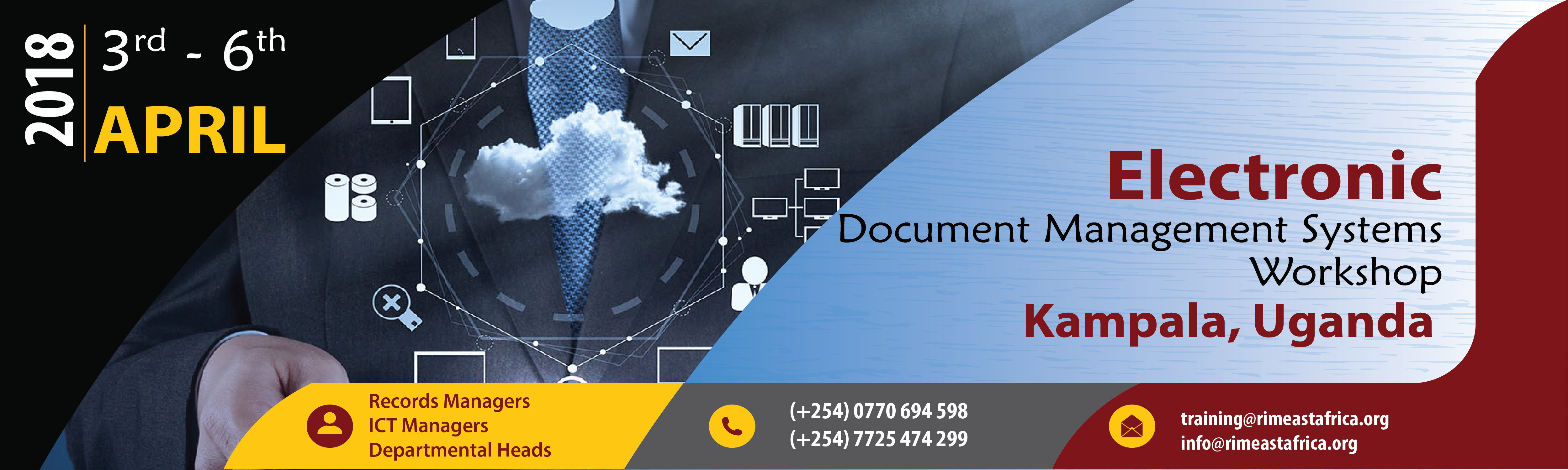 Electronic Document Management Workshop- Kampala Edition from 3rd to 6th April 2018