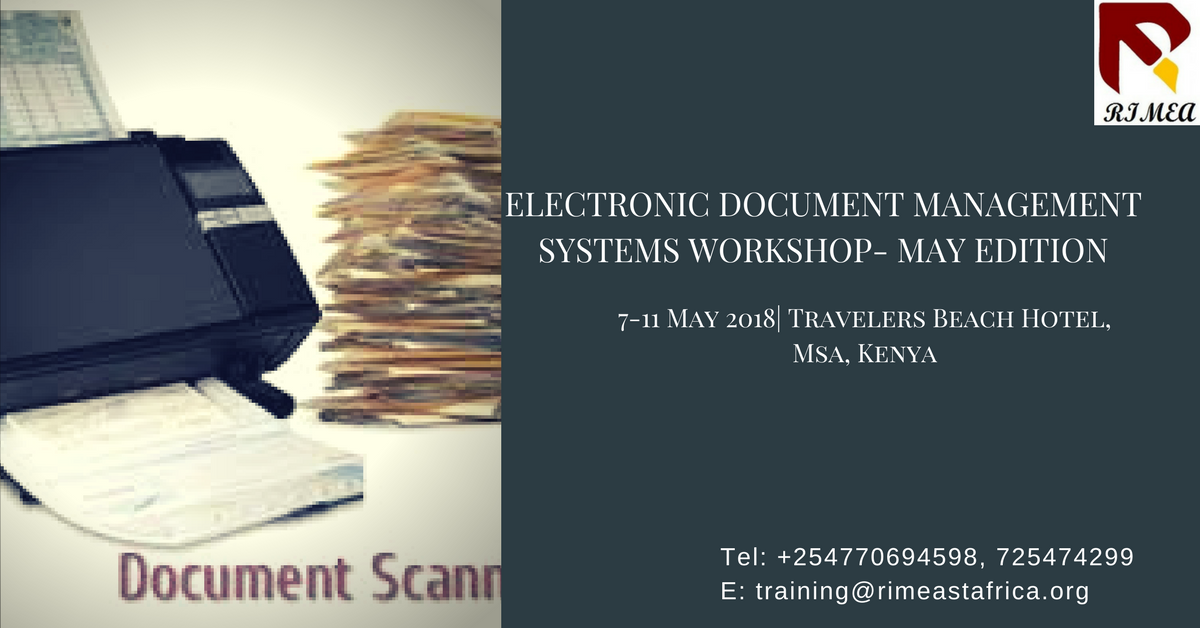 Electronic Document Management Systems Workshop- May Edition