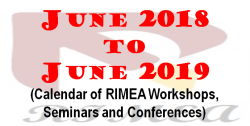 June 2018 to June 2019 Calendar of Workshops, Seminars and Conferencestyle=