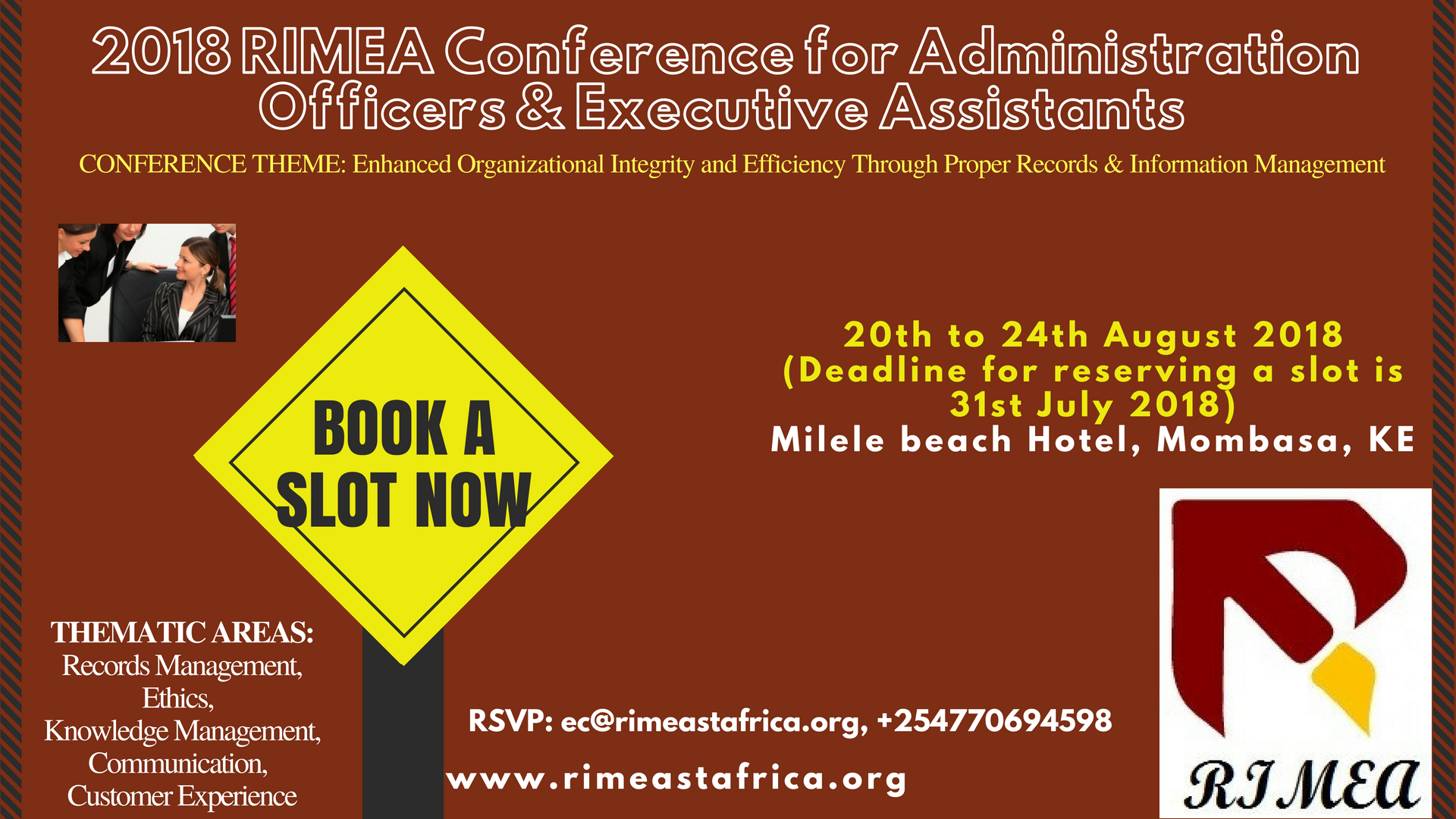 2018 RIMEA Conference for Administration Officers & Executive Assistants