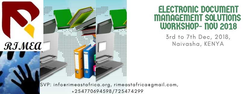 Electronic Document Management Solutions and Imaging Hardware Workshop- Dec 2018