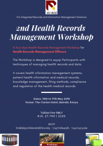 2nd Health Records Management Workshop