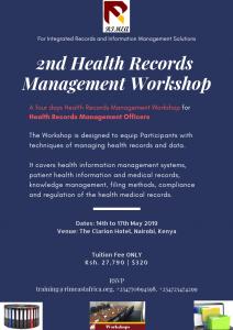 2nd Health Records Management Workshop