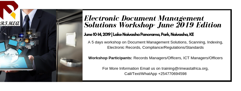 Electronic Document Management Solutions Workshop- June 2019 Edition