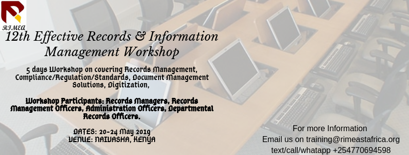 12th Effective Records & Information Management Workshop