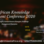 RIMEA East Africa Knowledge Management Conference 2020