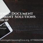 Electronic Document Management Workshop- March 2020