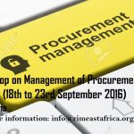 RIMEA to host a Four Days Workshop on Management of Procurement and Finance Records
