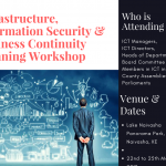 Infrastructure, Information Security & Business Continuity Planning Workshop