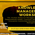 Knowledge Management Workshop- July 2018