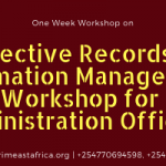Admin Officers Workshop on Effective Records Management- Jan 2019 Edition