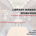 Library Management Workshop- August 2019