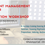 5 Days EDMS Workshop: Digitizing Records and Automation of Processes & Workflows- August 2019