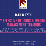 16th & 17th 5 Day Effective Records and Information Management Training