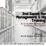2nd Sacco Records Management & Digitization Training