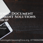 Electronic Document Management Workshop- March 2020